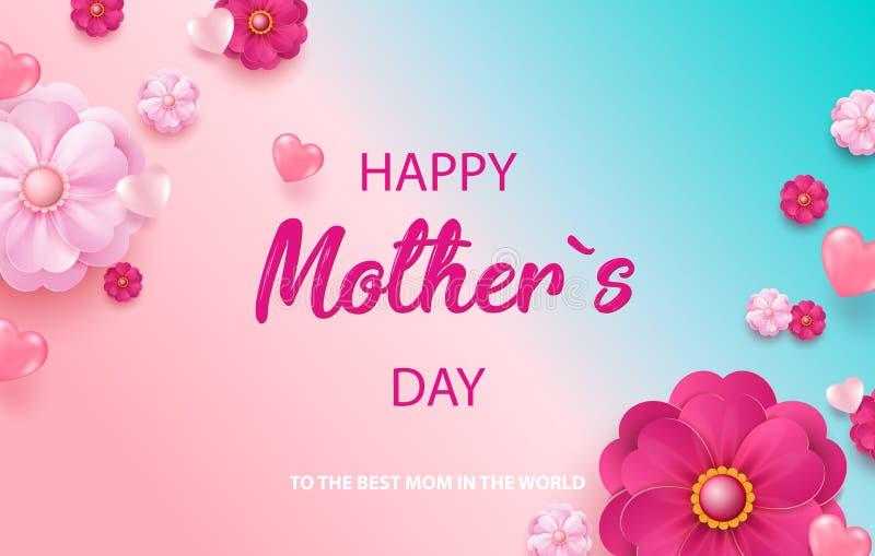 Gelukkige moeders dag Geïsoleerd op witte achtergrond Vector illustratie vector illustratie