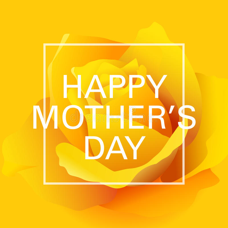Gelukkige Moedersdag met Rozen stock illustratie