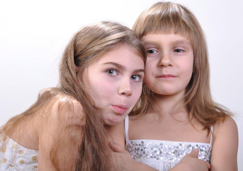 Gelukkige mooie meisjes stock foto