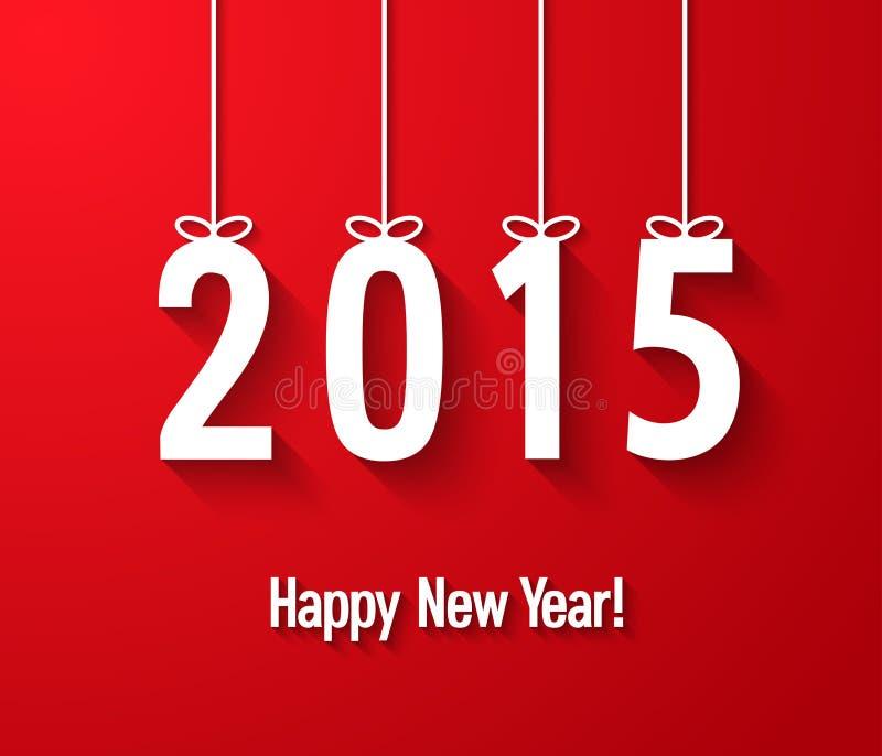 Gelukkige nieuwe jaar 2015 creatieve document groetkaart royalty-vrije illustratie