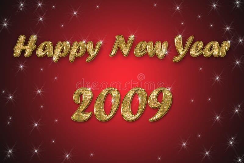 Gelukkige nieuwe jaar rode achtergrond vector illustratie