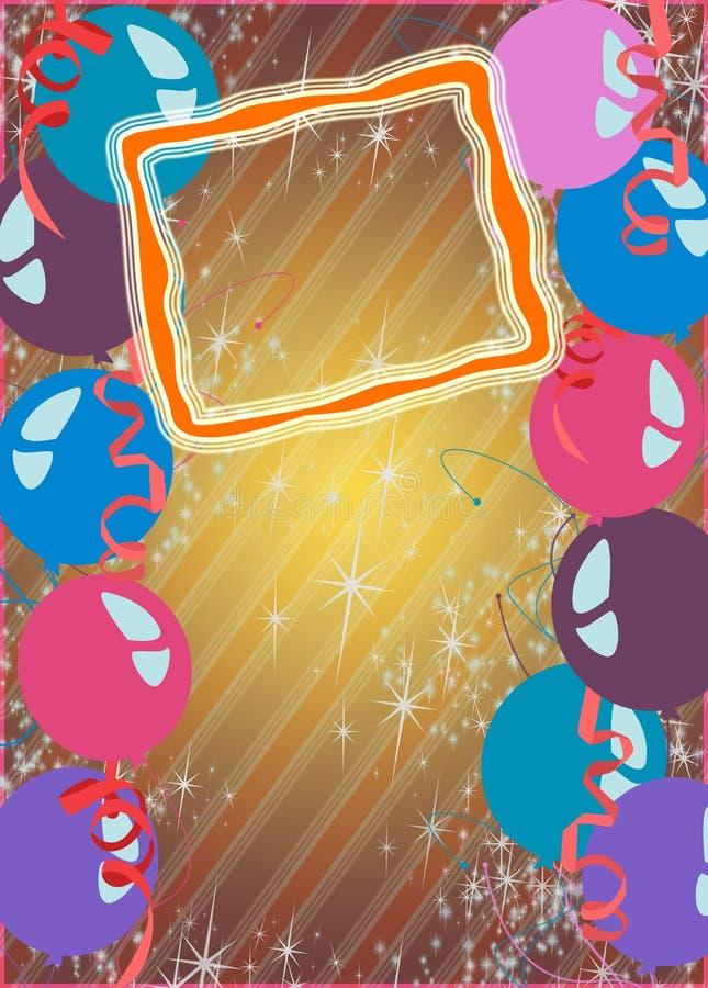 Gelukkige nieuwe jaar of verjaardagspartijachtergrond royalty-vrije illustratie