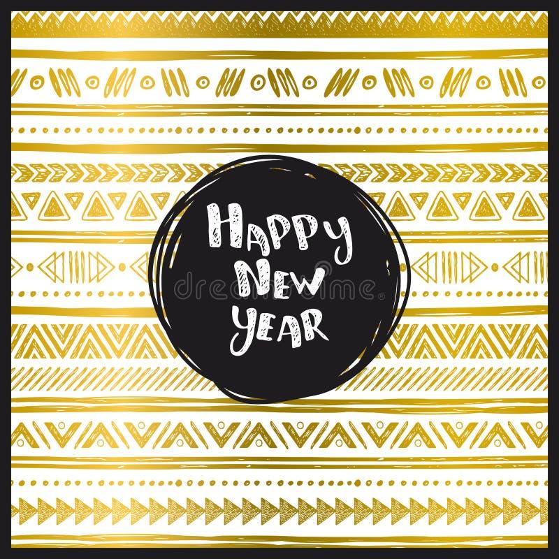 Gelukkige nieuwe jaarkaart stock illustratie
