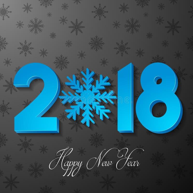 Gelukkige Nieuwjaar 2018 achtergrond met document knipsels royalty-vrije illustratie