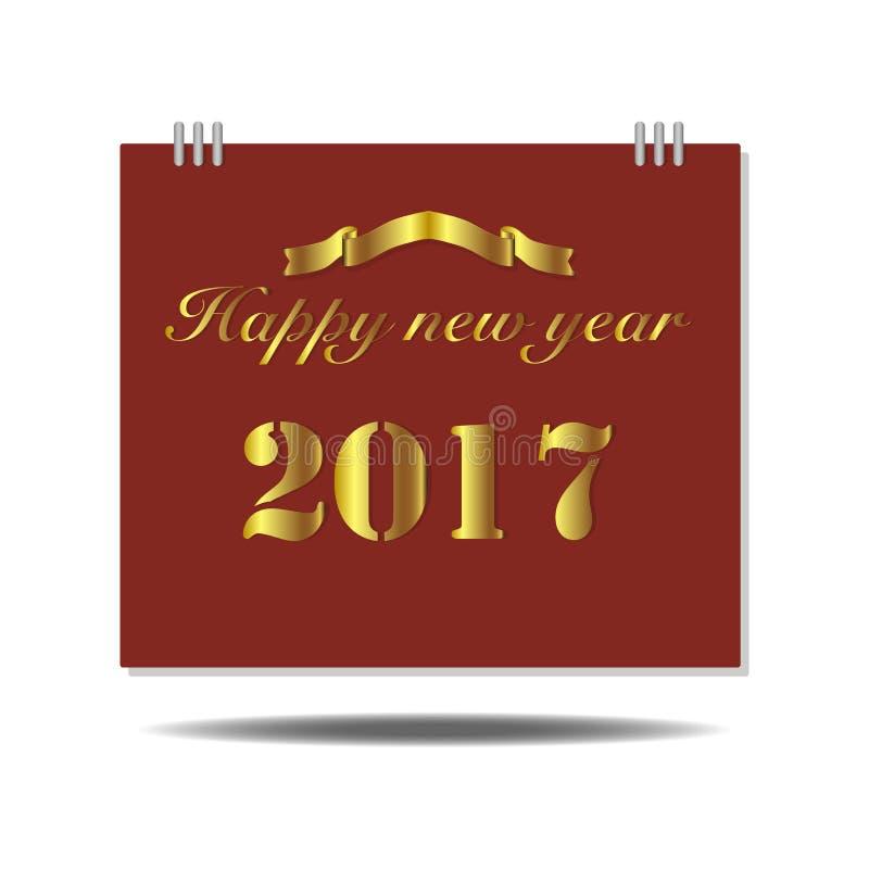 Gelukkige Nieuwjaar 2017 Kalender royalty-vrije stock fotografie