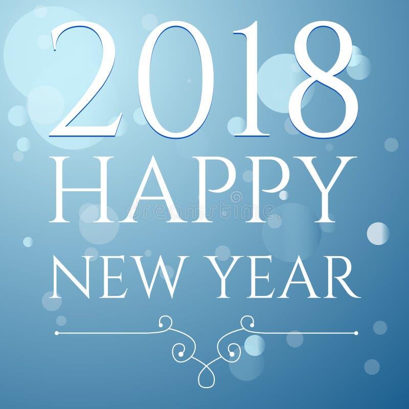 Gelukkige Nieuwjaar 2018 vectorillustratie Concept stock illustratie