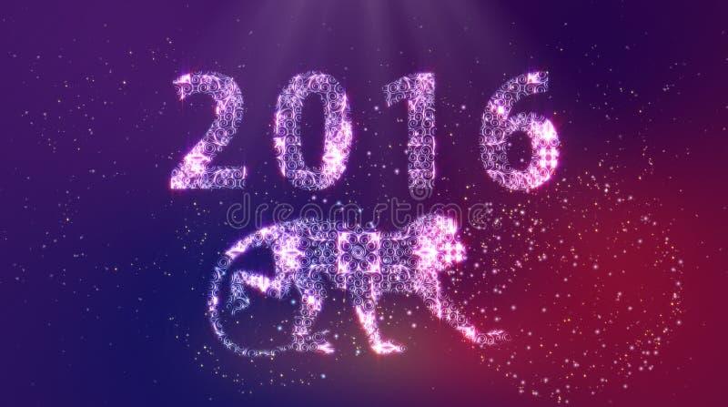 2016 Gelukkige Nieuwjaaraap royalty-vrije stock fotografie
