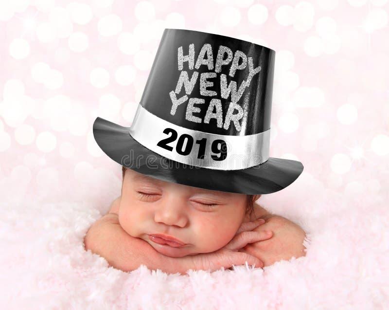 Gelukkige Nieuwjaarbaby 2019 stock foto's