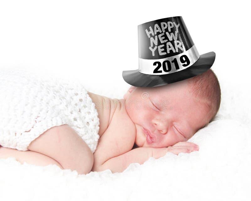 Gelukkige Nieuwjaarbaby 2019 royalty-vrije stock fotografie