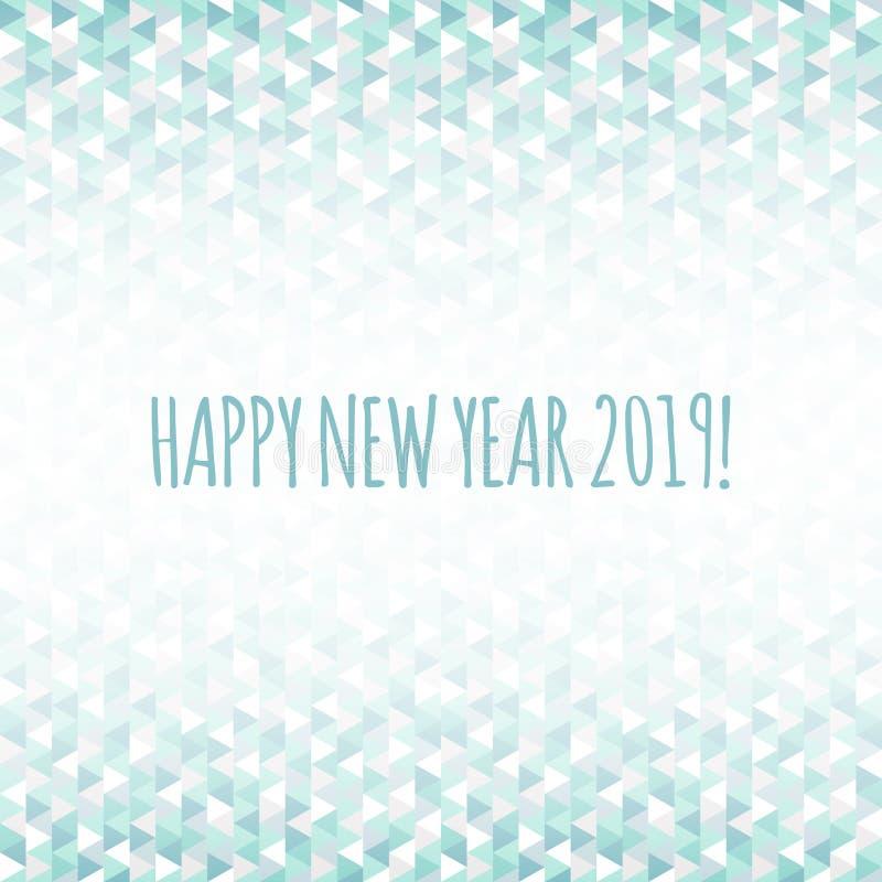2019 Gelukkige Nieuwjaarillustratie voor decoratie De driehoeks vectorpatroon van de de wintervakantie Groetkaart, achtergrond vo vector illustratie