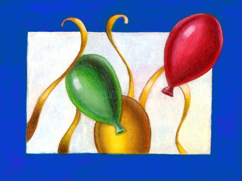 Gelukkige Nieuwjaarskaart stock illustratie