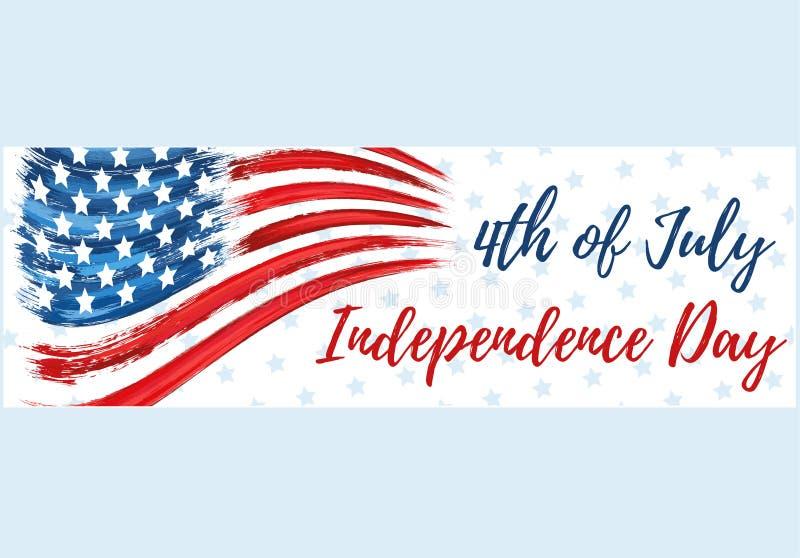 Gelukkige Onafhankelijkheid Dag vierde van Juli royalty-vrije illustratie