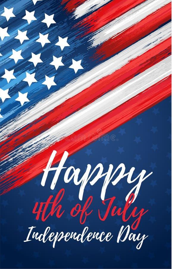 Gelukkige Onafhankelijkheid Dag vierde van Juli vector illustratie