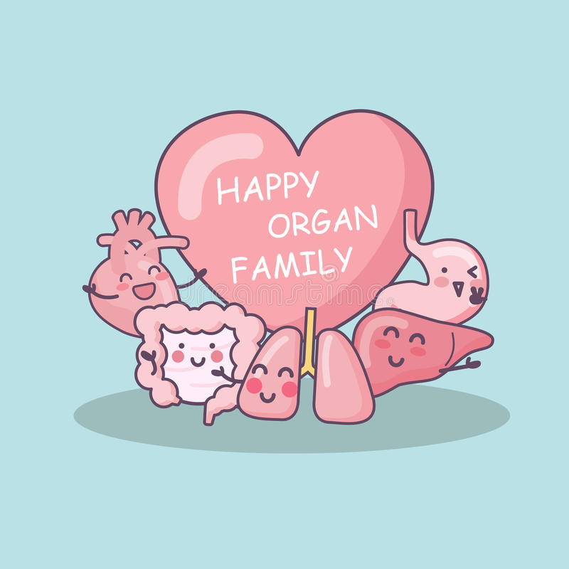 Gelukkige orgaanfamilie royalty-vrije illustratie