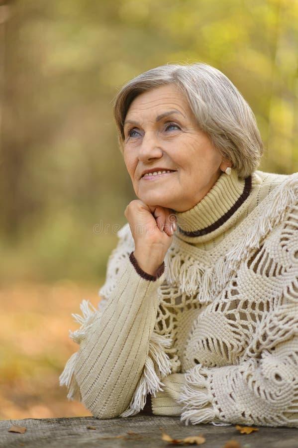 Gelukkige oude vrouw stock foto's