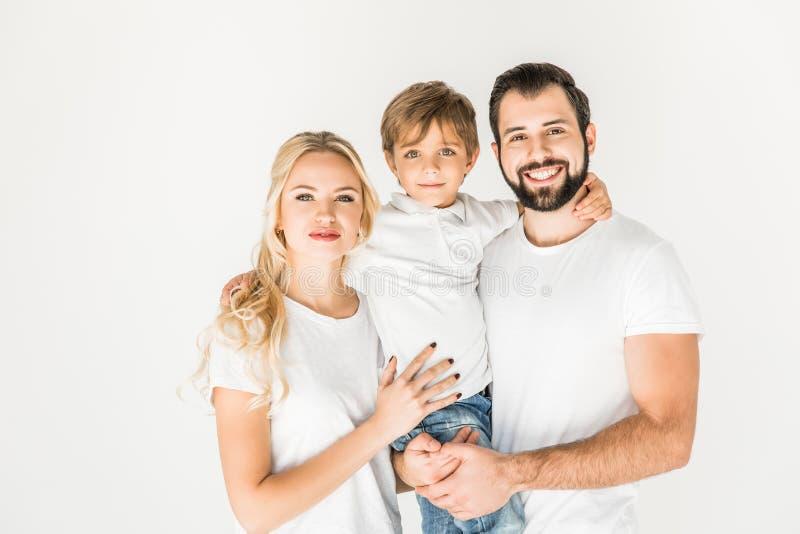 Gelukkige ouders met zoon royalty-vrije stock foto's