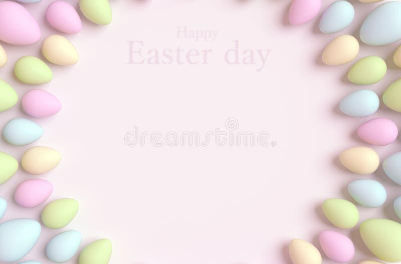 Gelukkige Pasen achtergrond stock foto