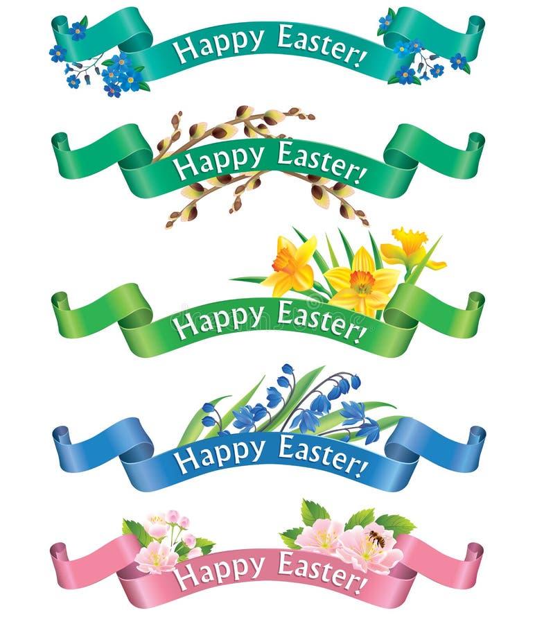 Gelukkige Pasen-banners vector illustratie