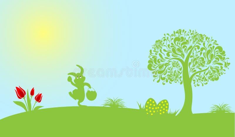 Gelukkige Pasen-Decoratievector stock afbeeldingen