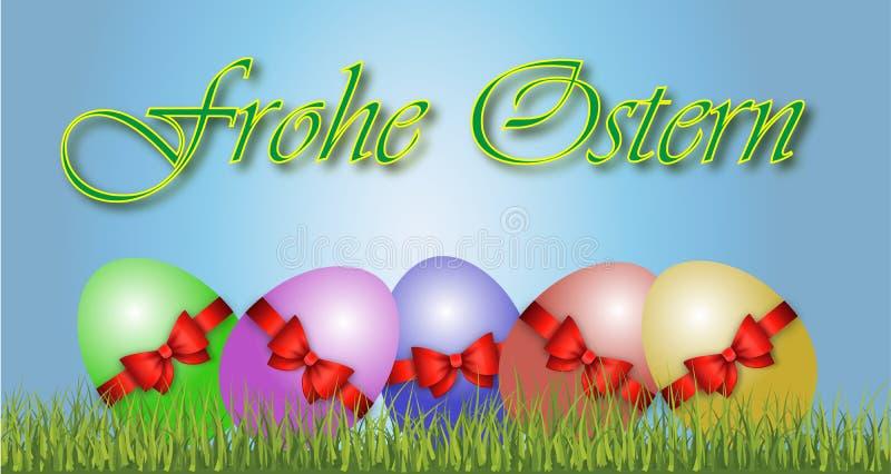 Gelukkige Pasen-Decoratievector royalty-vrije stock fotografie