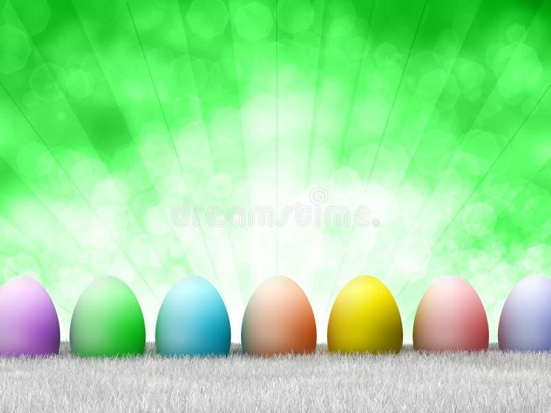 Gelukkige Pasen - gekleurde eieren stock illustratie