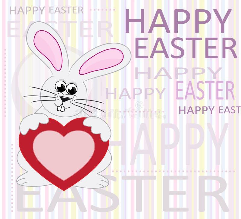 Gelukkige Pasen groetkaart vector illustratie
