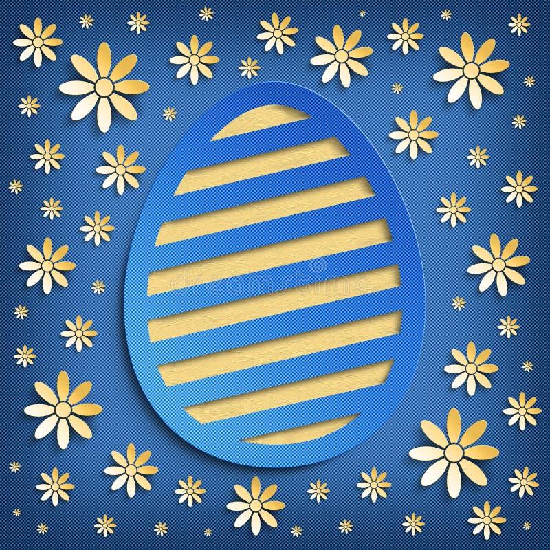 Gelukkige Pasen-groetkaart royalty-vrije illustratie