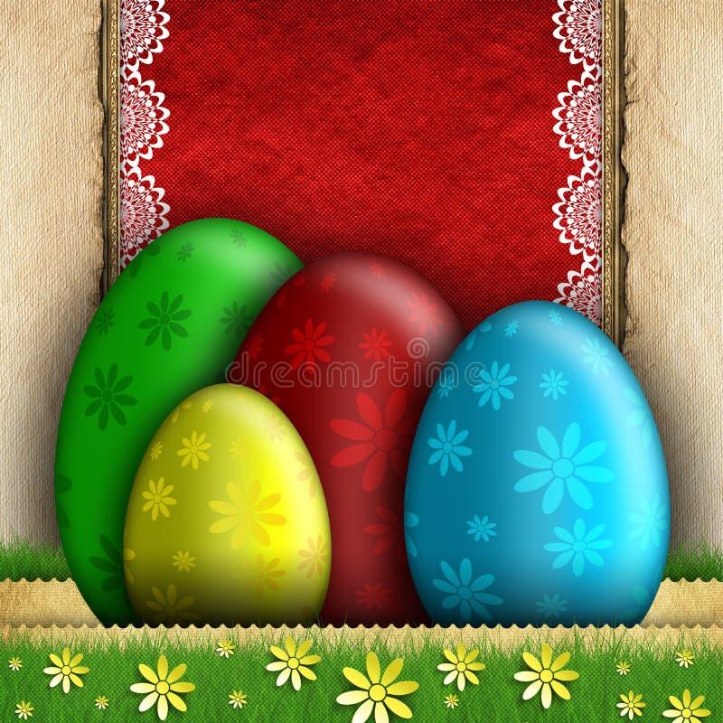 Gelukkige Pasen-groetkaart stock illustratie