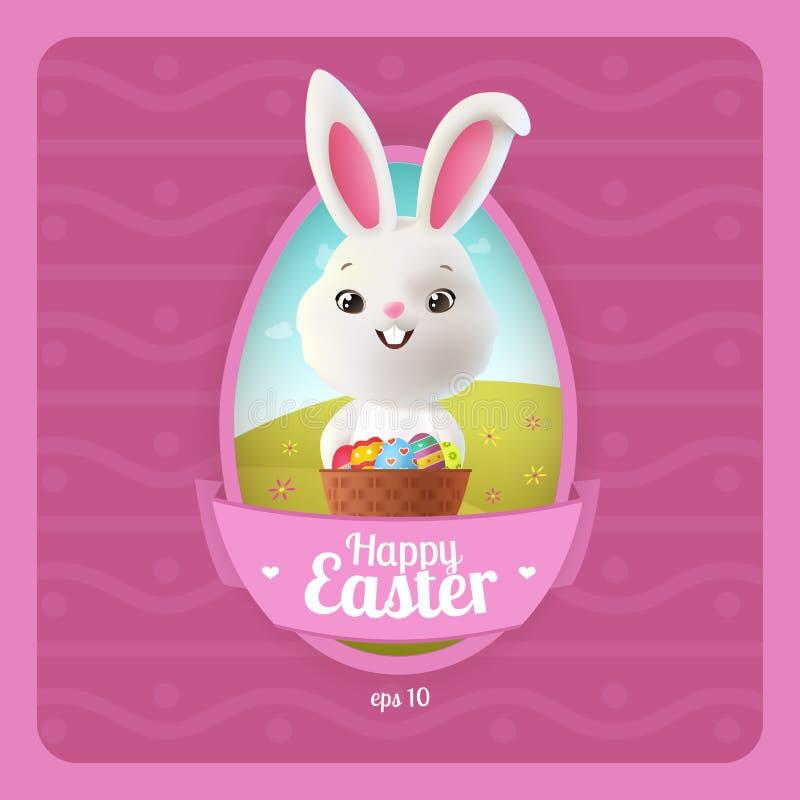 Gelukkige Pasen-Groetkaart vector illustratie