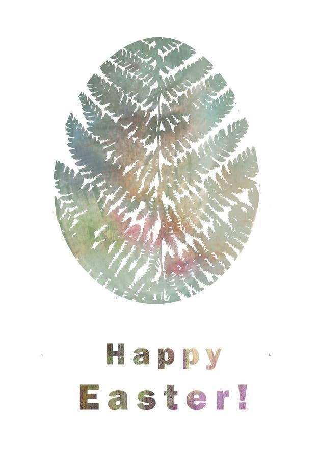 Gelukkige Pasen-Groetkaart Illustratie met gestileerd bloemenpaasei royalty-vrije stock foto's