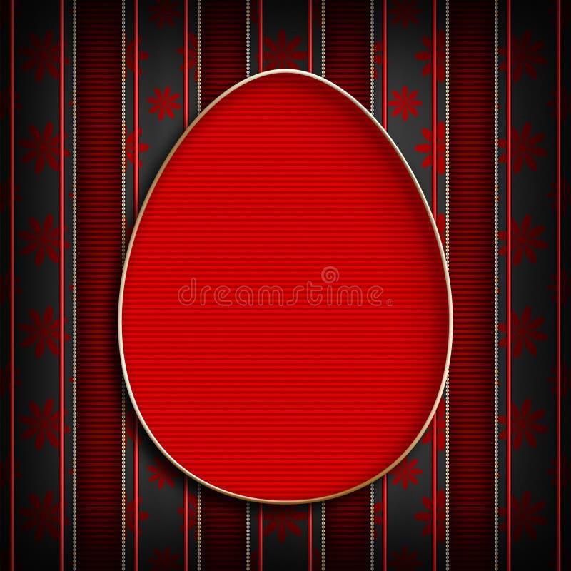 Gelukkige Pasen - het malplaatje van de groetkaart royalty-vrije illustratie