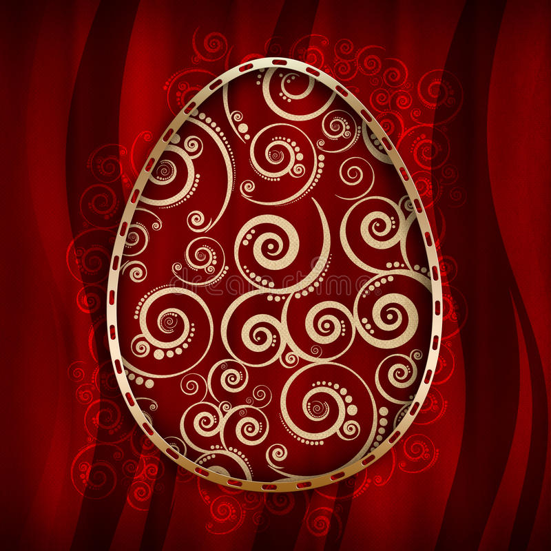 Gelukkige Pasen-Kaart royalty-vrije illustratie