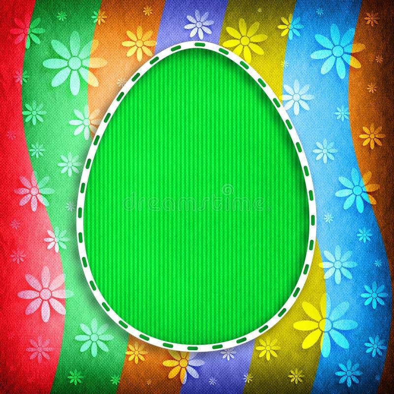 Gelukkige Pasen-Kaart - ei op gekleurde achtergrond royalty-vrije illustratie