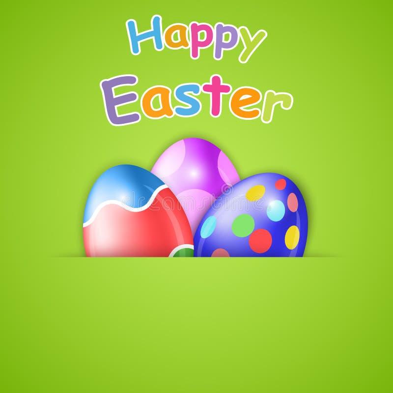 Gelukkige Pasen-kaart met ei vector illustratie