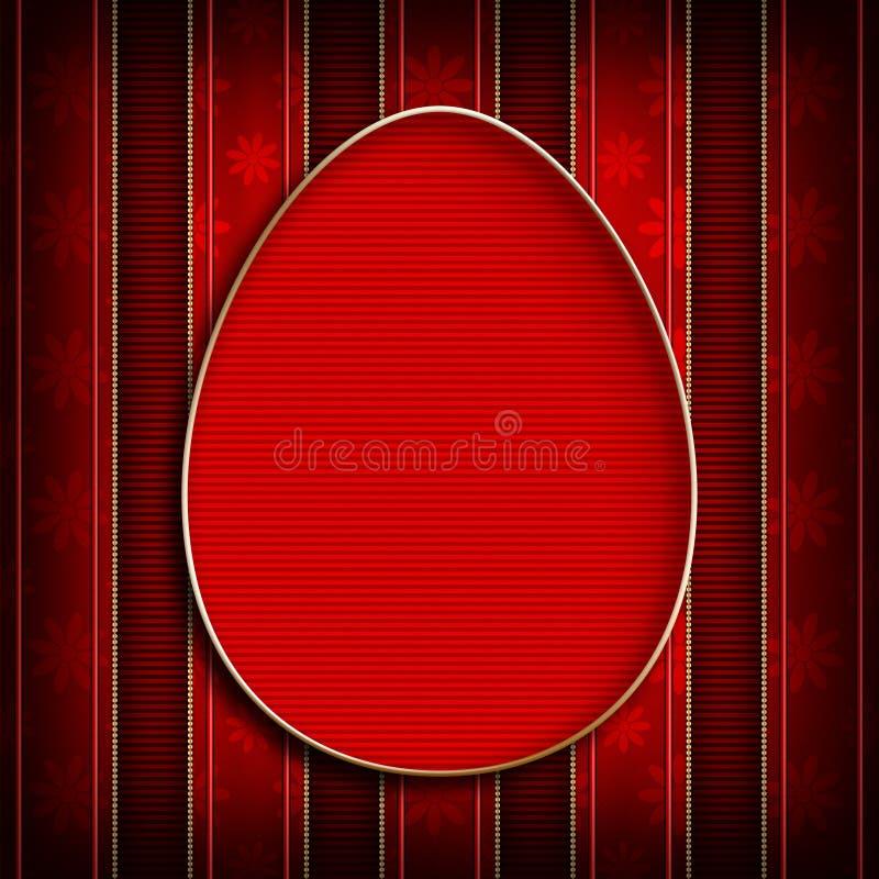 Gelukkige Pasen - malplaatjeontwerp van groetkaart royalty-vrije illustratie