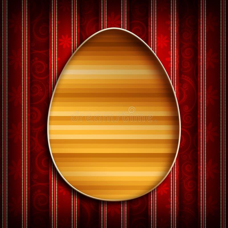 Gelukkige Pasen - ontwerp van groetkaart vector illustratie