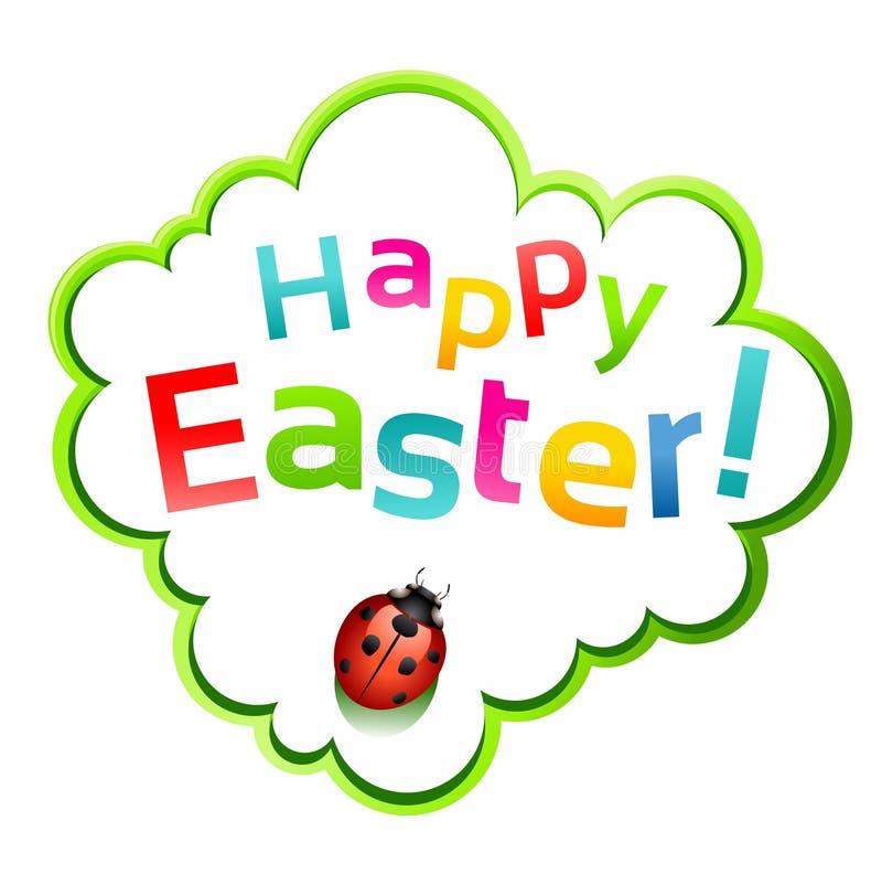 Gelukkige Pasen sticker stock illustratie