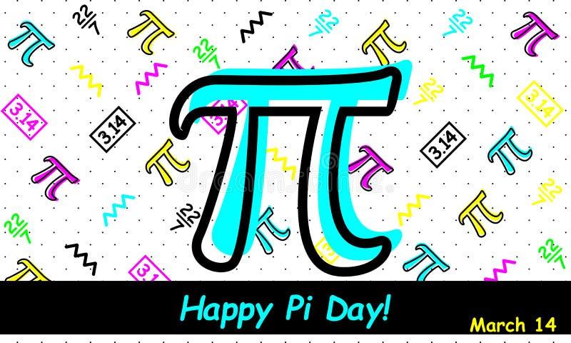 Gelukkige Pi-Dag - Vector vector illustratie