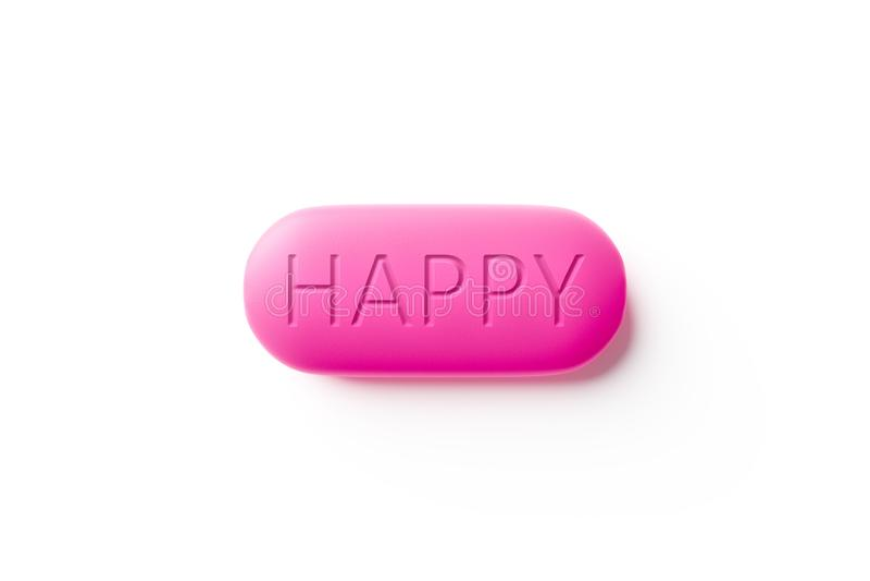 gelukkige pillenmacro royalty-vrije illustratie