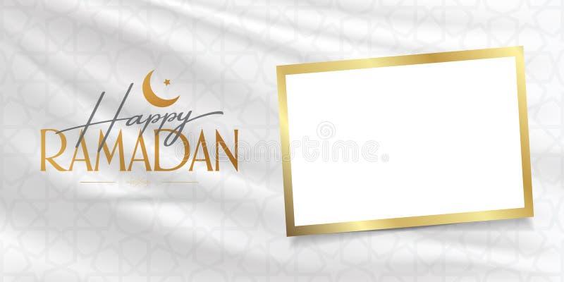 Gelukkige Ramadan Heilige maand van moslim communautaire Ramazan Aanplakbord, Affiche, Sociale Media, het malplaatje van de Groet stock illustratie