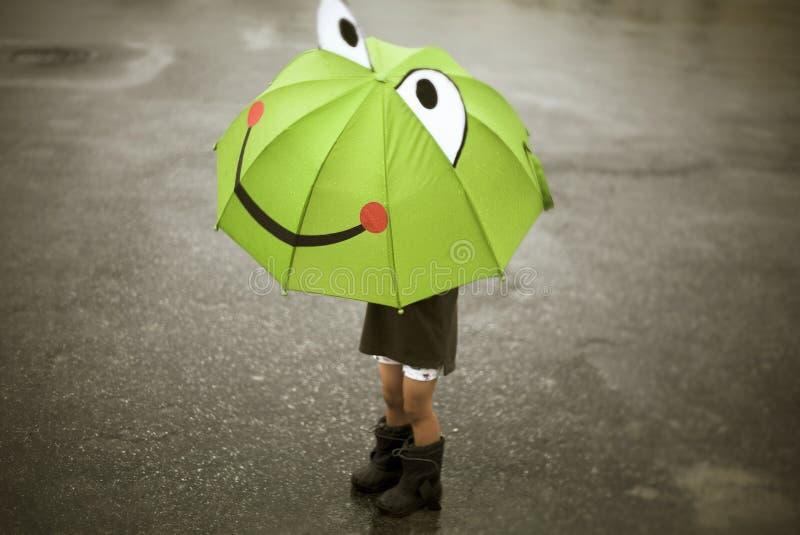 Gelukkige regen royalty-vrije stock afbeeldingen
