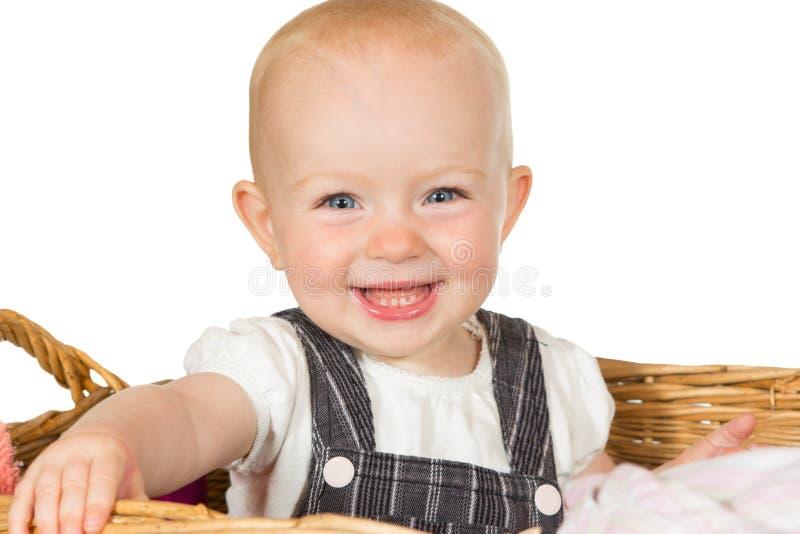 Gelukkige richtende baby stock fotografie