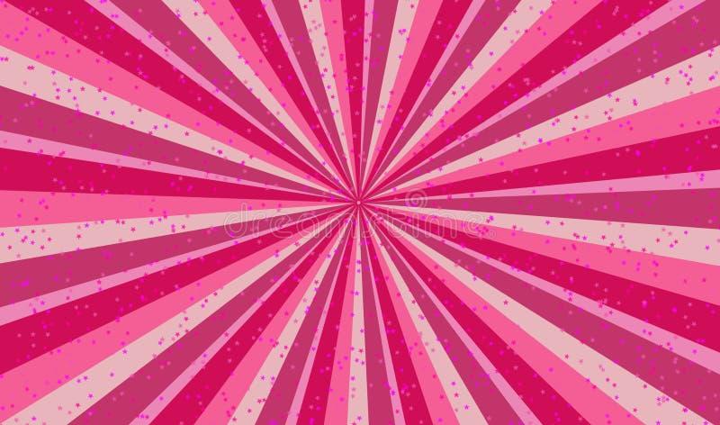 Download Gelukkige Roze Zonnestraalillustratie Stock Illustratie - Illustratie bestaande uit radiaal, retro: 54075971
