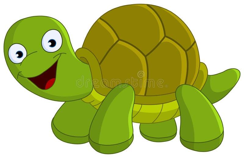 Gelukkige schildpad stock illustratie