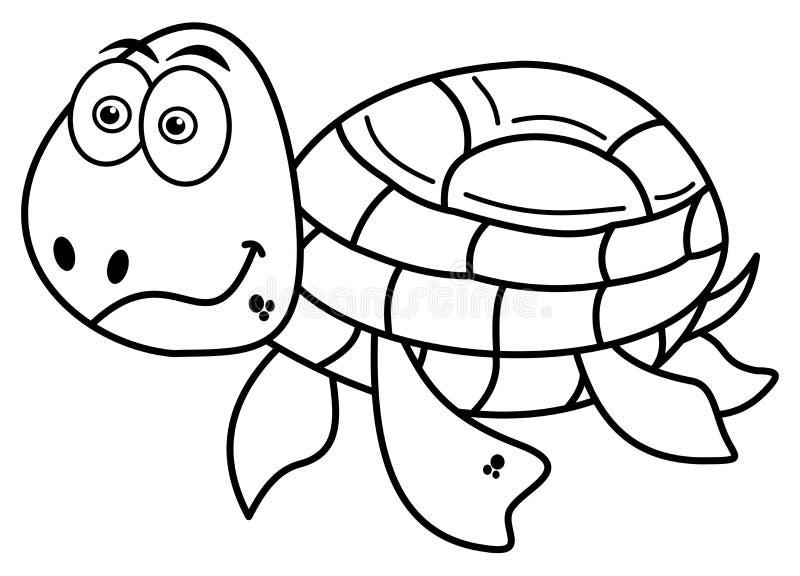 Gelukkige schildpadkleuring vector illustratie