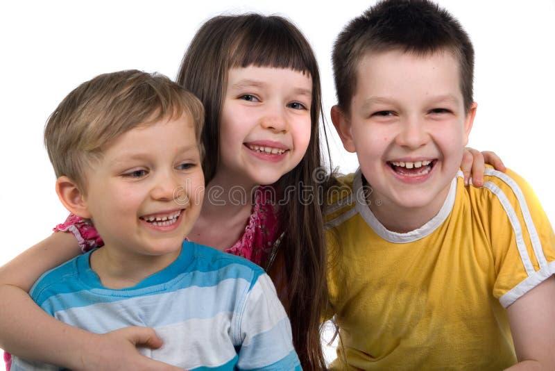 Gelukkige Siblings stock afbeelding