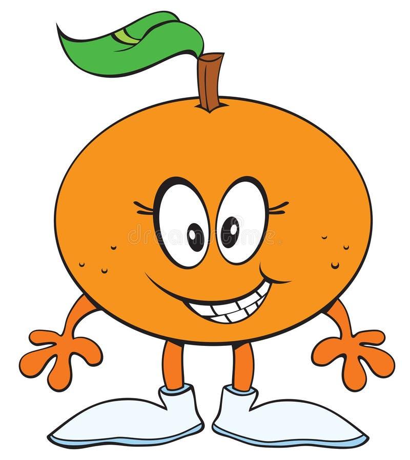 Gelukkige Sinaasappel royalty-vrije stock afbeelding