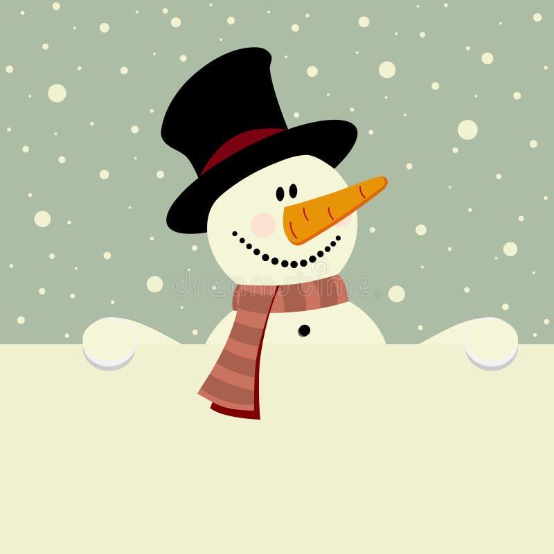 Gelukkige sneeuwman royalty-vrije illustratie