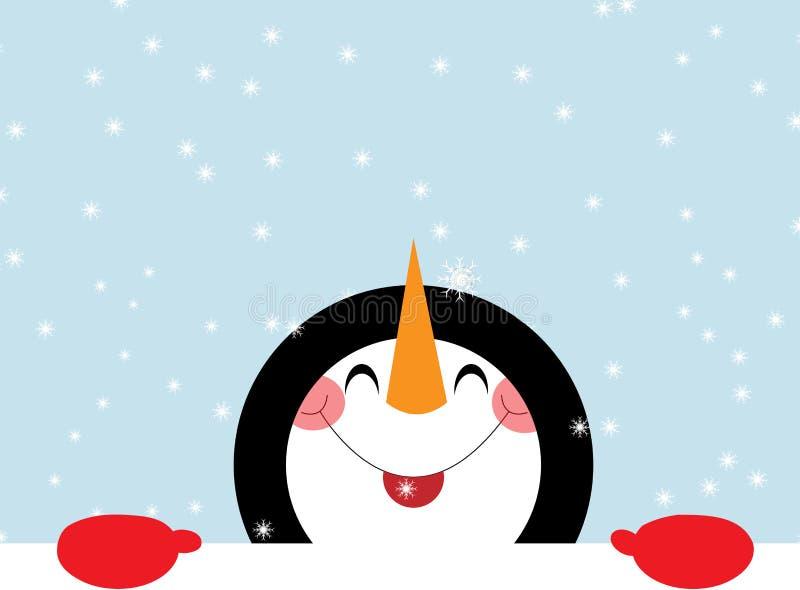 Gelukkige sneeuwman stock illustratie