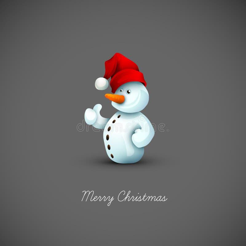 Gelukkige Sneeuwman met de Hoed van de Kerstman vector illustratie